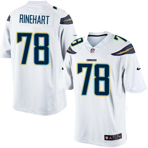 eeedb6ad813f Chad Rinehart Elite Jersey 78 Nike Limited Chad Rinehart Mens Jersey - NFL  San Diego Chargers Road White 78 Nike Game ...